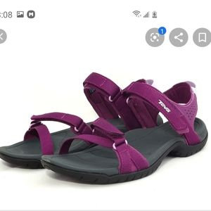NWOB vegan Teva purple orchid sandals